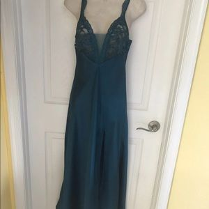 Vintage Victoria's Secret Gorgeous Blue Night Gown